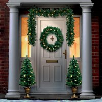 Click to view product details and reviews for Pre Lit Christmas Door Set.
