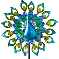 Click to view product details and reviews for Solar Peacock Wind Spinner.