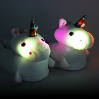 Click to view product details and reviews for Light Up Unicorn Slippers.