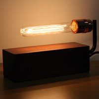 Vintage Wooden Block Table Light
