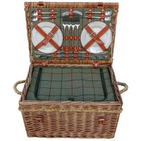 Click to view product details and reviews for Four Person Tweed Fitted Picnic Basket.
