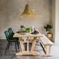 Thomas Whitewashed Dining Table