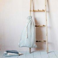 Annika Woven Stripe Laundry Bag
