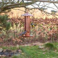 Copper Bird Seed Feeder