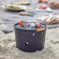 Carbon Grey Round BBQ Bucket