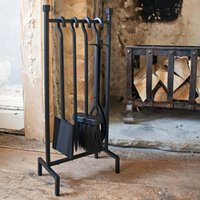 Four Piece Hanging Iron Fire Set