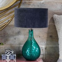 Hammered Green Glass Table Lamp