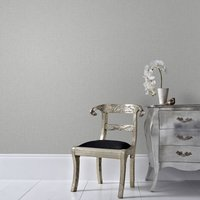 Graham & Brown Chenille Grey and Silver Wallpaper