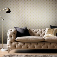 Graham & Brown Fan Gold and Pearl Wallpaper