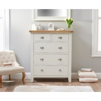 Read more about Ellen oak and white large 2 over 3 chest of drawers
