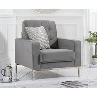 Product photograph showing Larma Grey Velvet Armchair