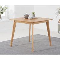 Sacha Oak 90cm Square Dining Table
