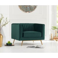 Read more about Darbie green velvet armchair