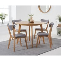 Sacha 110cm Round Dining Table with Sacha Chairs