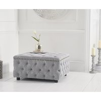 Fusion Grey Linen Square Footstool