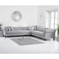 Product photograph showing Livi Grey Linen Corner Sofa