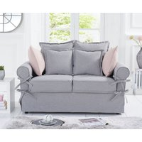 Product photograph showing Clemence Grey Linen 2 Seater Sofa