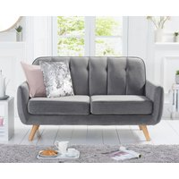 Product photograph showing Coby Grey Velvet 2 Seater Sofa