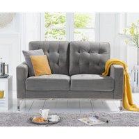 Product photograph showing Larma Grey Velvet 2 Seater Sofa