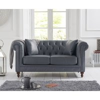 Read more about Milano chesterfield grey leather 2 seater sofa