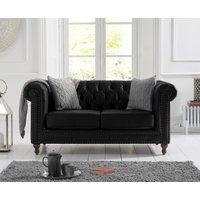 Read more about Milano chesterfield black leather 2 seater sofa