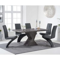Read more about Andre 160cm grey marble dining table with hampstead z chairs