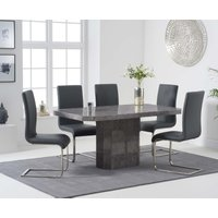 Read more about Brandi 160cm grey marble dining table with malaga chairs