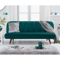 Julianna Sofa Bed in Green Velvet