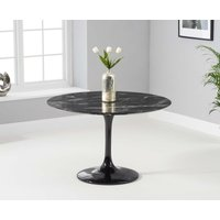 Bryce 120cm Round Black Marble Dining Table