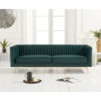 Read more about Darbie green velvet 3 seater sofa