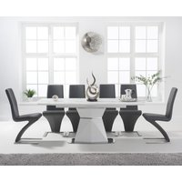 Jose 160cm White Extending Dining Table with Hampstead Z Chairs