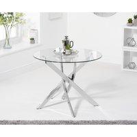 Denver 95cm Round Glass Dining Table