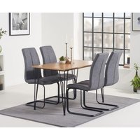 Read more about Kalmar 120cm dining table with liza fabric dining chairs