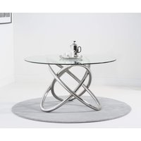 Dalia 135cm Round Glass Dining Table
