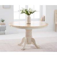 Epsom Cream 120cm Round Pedestal Dining Table