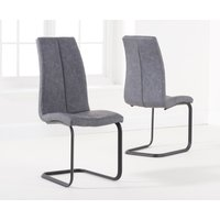 Product photograph showing Liza Grey Fabric Dining Chairs Pairs
