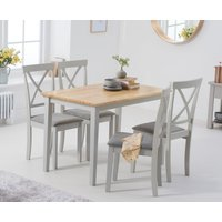 Chiltern 114cm Oak and Grey Dining Table with Epsom Chairs