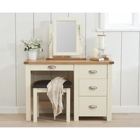 Read more about Somerset oak and cream single pedestal dressing table set