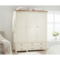 Read more about Somerset oak and cream 3 door 4 drawer wardrobe