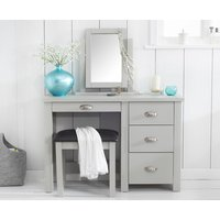 Product photograph showing Somerset Grey Single Pedestal Dressing Table Set