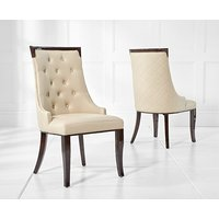 Product photograph showing Angelica Cream Faux Leather Dining Chairs Pairs