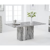 Product photograph showing Adi 180cm Grey Marble Dining Table