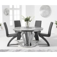 Veneziana 130cm Round Marble Dining Table with Hampstead Z Chairs