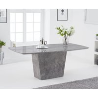Product photograph showing Foxwood 200cm Light Grey Marble Dining Table