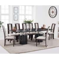 Alona 260cm Black Marble Dining Table with Raphael Chairs