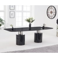 Product photograph showing Alona 260cm Black Marble Dining Table