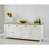 Somerset 4 Door 4 Drawer Oak and Cream Sideboard