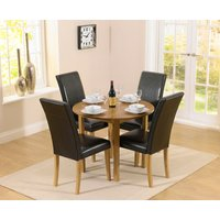 Oxford 90cm Solid Oak Drop Leaf Extending Dining Table with