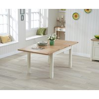 Somerset 130cm Oak and Cream Extending Dining Table