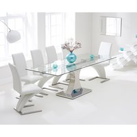Athena 160cm Extending Glass Dining Table with Hampstead Z